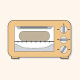 Kitchenware oven theme elements vector,eps Royalty Free Stock Images