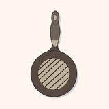 Kitchenware pan theme elements vector,eps. Vector illustration file Stock Image