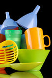 Kitchenware of plastic Royalty Free Stock Image