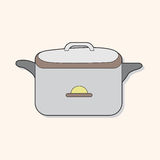 Kitchenware rice cooker theme elements vector,eps. Vector illustration file Royalty Free Stock Photo
