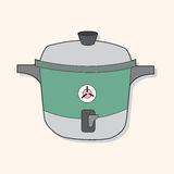 Kitchenware rice cooker theme elements vector,eps. Vector illustration file Stock Photo