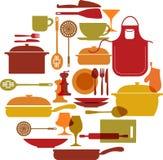 Kitchenware set Royalty Free Stock Photos