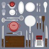 Kitchenware set Zdjęcie Stock