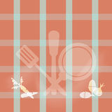 Kitchenware sign,  cooking book page concept illustration Royalty Free Stock Photography