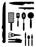 Kitchenware Silhouettes Royalty Free Stock Photography