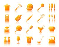 Kitchenware simple gradient icons vector set royalty free illustration