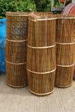 Kitchenware som göras av bambu Arkivfoton