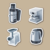 Kitchenware stickers Royalty Free Stock Photo
