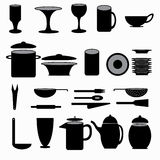 Kitchenware symbols collection vector illustration Stock Photo