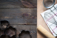 Kitchenware at the table Royalty Free Stock Photography