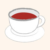 Kitchenware tea cup flat icon elements, eps10 Royalty Free Stock Photography