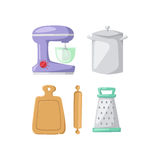 Kitchenware vector icons. Royalty Free Stock Photo
