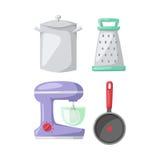Kitchenware vector icons. Royalty Free Stock Photos