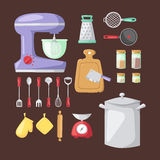 Kitchenware vector icons. Royalty Free Stock Images