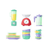 Kitchenware vector icons. Royalty Free Stock Photography