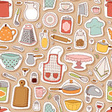 Kitchenware vector seamless pattern. Kitchen and cooking seamless pattern. Kitchenware background and utensils food preparation vector illustration for Royalty Free Stock Photo