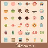 Kitchenware Vintage Icons Royalty Free Stock Photos