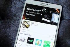 Kitco χρυσό ζωντανό app Στοκ Εικόνες