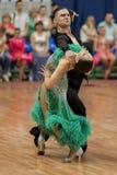 Kitcun Andrey and Krepchuk Yuliya Perform Adult Latin-American Program on National Championship Royalty Free Stock Photography