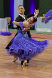 Kitcun Andrey and Krepchuk Yuliya Perform Adult Show Case Dance Show Royalty Free Stock Photos