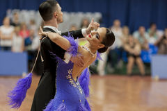 Kitcun Andrey and Krepchuk Yuliya Perform Adult Show Case Dance Show During the National Championship Royalty Free Stock Photography