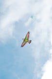 Kite. Real kite flying in sky Stock Photo