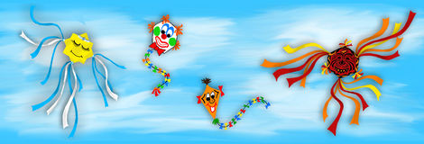 Kite. S in the autumn of the clouds flitting Stock Photo