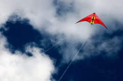 Kite. In a blue sky Stock Images