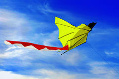 Kite. Close-up kite in the air Royalty Free Stock Images