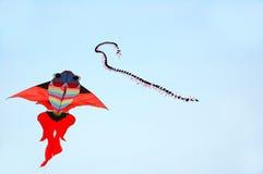 Kite. Goldfish and centipede modelling kite in sky Stock Photos