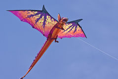 Kite. Large dragon kite captured on a sunny day stock photography