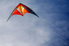 Kite. Stunt Kite Flying in the Air Stock Images