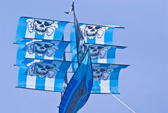 Kite. Large pirate ship kite captured on a sunny day Stock Photos