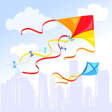 Kite above the city Stock Images
