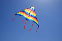 Kite against blue sky Royalty Free Stock Photo
