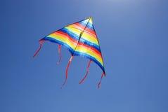 Kite against blue sky Royalty Free Stock Photo