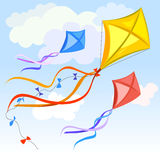 Kite And Clouds Background Stock Image