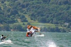 Kite back flip stock photos