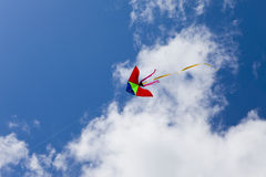 Kite on background of blue sky Royalty Free Stock Image