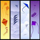 Kite banners Royalty Free Stock Photo
