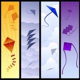 Kite banners Royalty Free Illustration