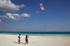 Kite on the beach stock photography