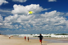 Kite on the beach royalty free stock images