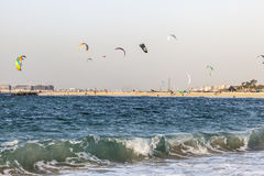 Kite beach in Dubai, UAE Stock Photos