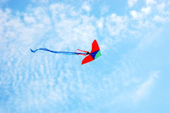 Kite on blue sky Royalty Free Stock Photography