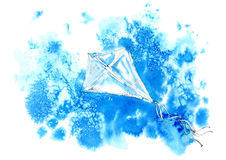 Kite in the blue sky. Royalty Free Stock Photo