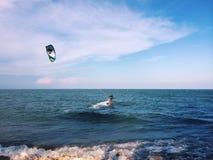 Kite board. Pranburi huauhin beach Stock Photo