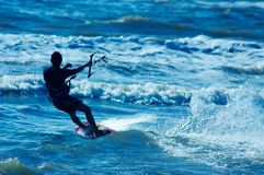 Kite boarder Royalty Free Stock Photo
