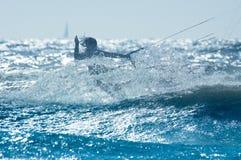 Kite boarder. Kite surfer in action Stock Image