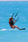 Kite boarder. On the Ionian island of Lefkas in Greece Royalty Free Stock Photos